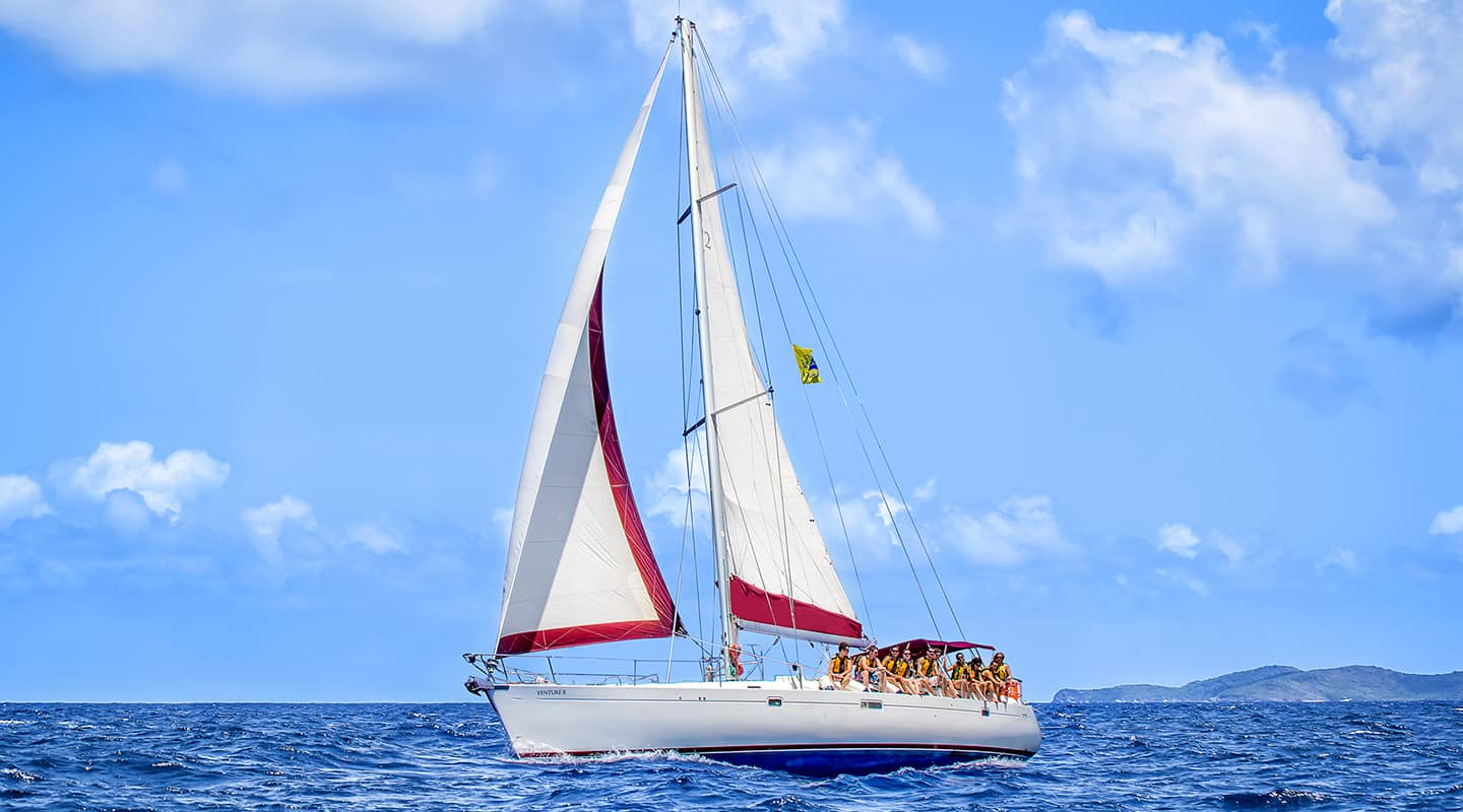 Sailboats In The Caribbean: Sailing The Caribbean Caribbean Marine Nature Ocean Sail